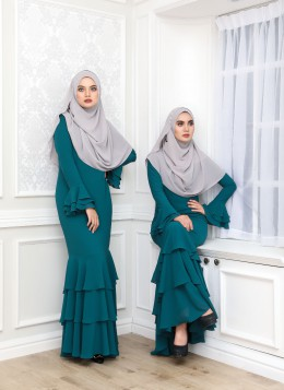 EMBUN DRESS - Teal Blue