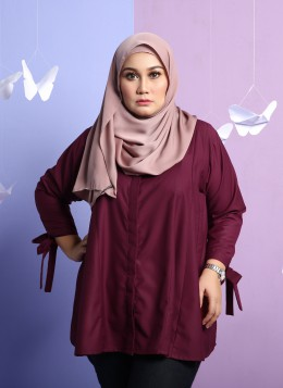 TIFFANY BLOUSE - Maroon