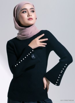 NELLY KNITTED INNER - Black