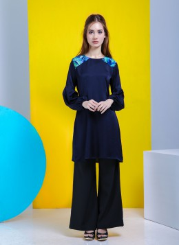 LEA TUNIC - Blue Black