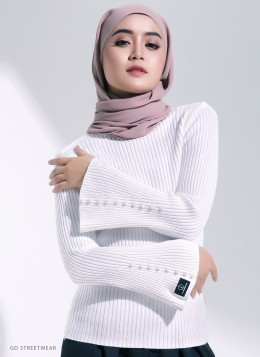 NELLY KNITTED INNER - White